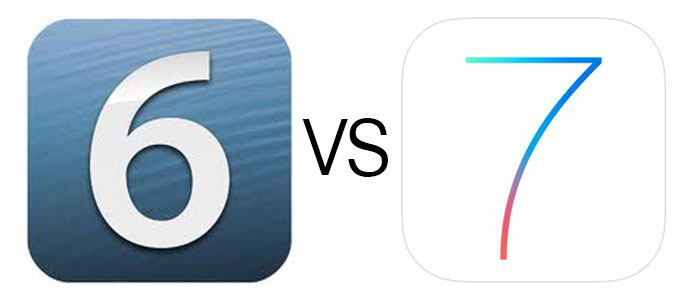 iOS 7 vs iOS 6 Side-by-Side Visual Comparisons